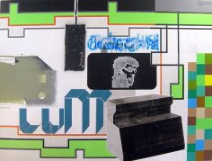 Control / 240x180cm / acrylique sur bois - acrylic on wood panel