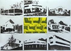 Houses / 210x300cm / acrylique sur papier - acrylic on paper