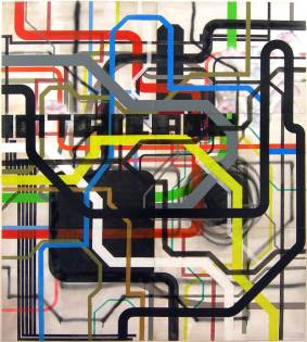 Intricacy #2 / 160x180cm / acrylique sur bois - acrylic on wood panel