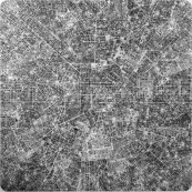 Les villes continues #16 MLN - The continuous cities #16 MLN / 150x150cm / 2012
