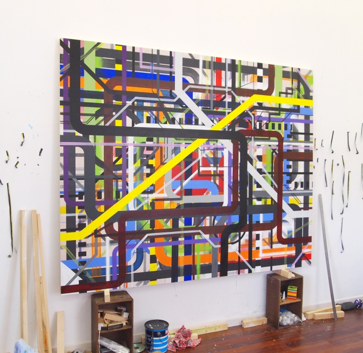Intricacy #9 / 160x200cm / 2013 / acrylique sur bois – acrylic on wood panel