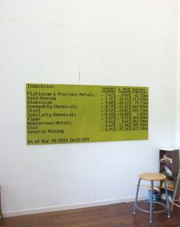 Basic Materials / 2014 / 80x180cm / acrylique sur bois – acrylic on wood panels