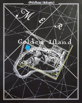 Superposition #4 ( Golden Ifland – Pistoolhaven)/ 2014 / 120x150cm / acrylique sur papier – acrylic painting on paper