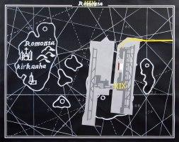 Superposition #6 (KIX – Romonia) / 120x150cm / acrylique sur papier – acrylic painting on paper