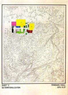 Deterritorialization (sheet 3) / 50x70cm / 2014 / drawing on paper – dessin sur papier