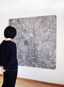 The continuous cities #19 GYNGG / 2015 / 150x150cm / ink drawing on polyester tracing paper – dessin à l'encre sur polyester