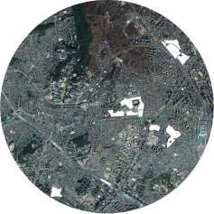 (o)fences / 2015 / map of Seoul (seodaemun, mapo), the white areas mark the construction sites