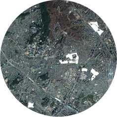 (o)fences / 2015 / map of Seoul (seodaemun, mapo), the white areas mark the construction sites